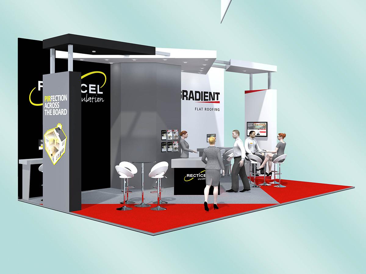 Exhibition Stand Design Gradient Recticel
