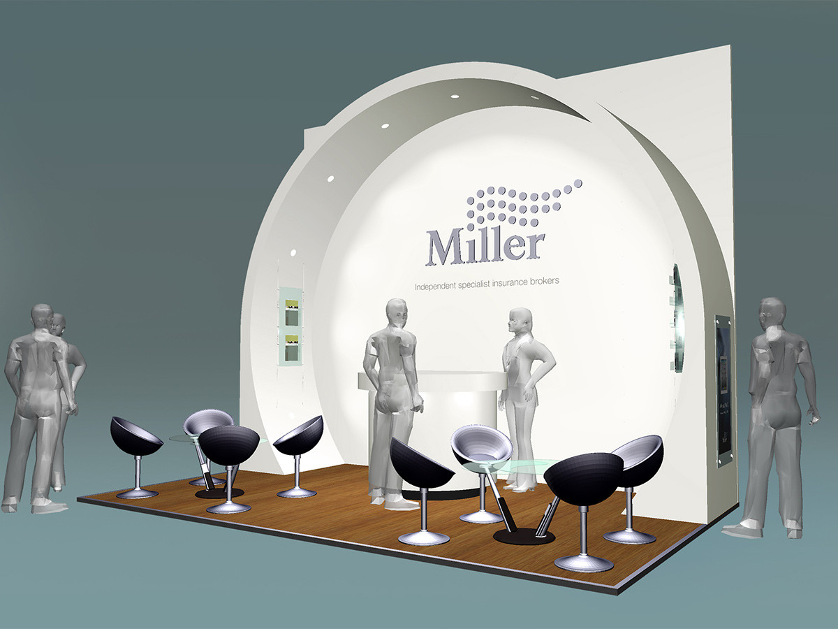 Exhibition Stand Design Concept Miller Insurance