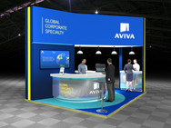 Aviva Sustainable Exhibition Stand Design Concept for Airmic