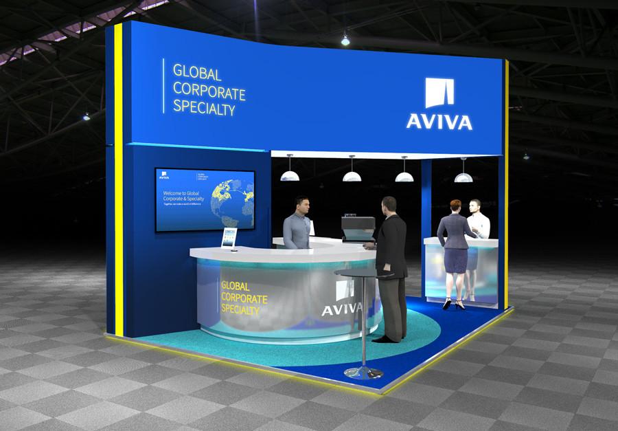 Sustainable Exhibition Stand Design Concept Aviva