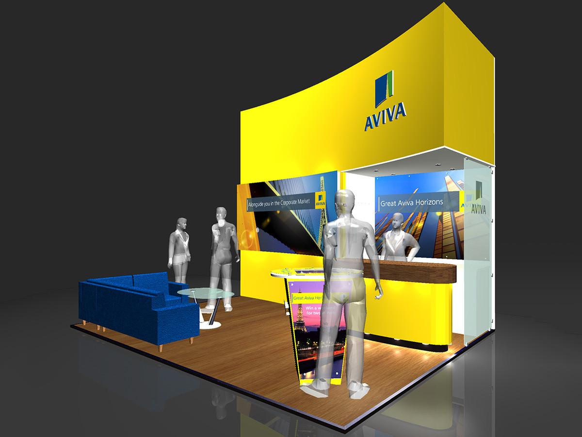 Exhibition Stand Design Concept Aviva Airmic 2011