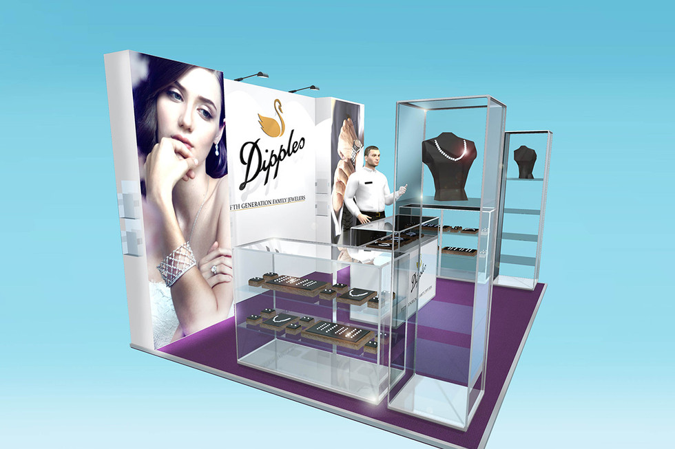 Custom exhibition stand designs for jewelers