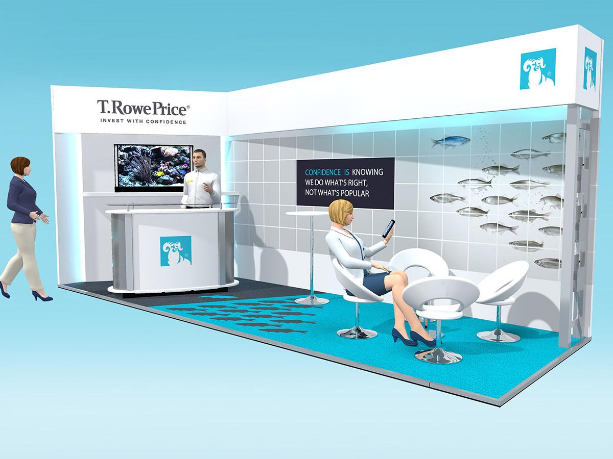 Exhibition Stand Design Concept T Rowe Price at Fund Forum 2016