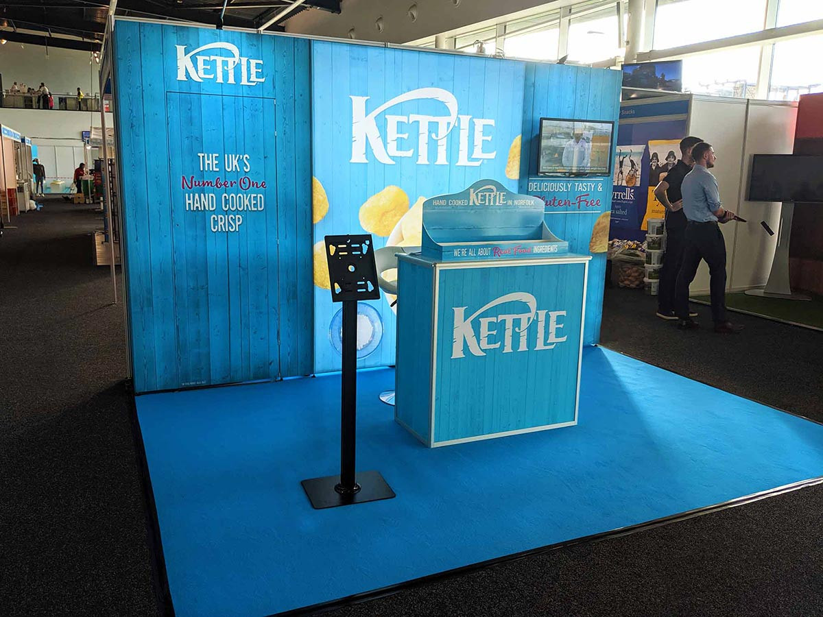 Portable Exhibition Stand System for Kettle Foods at Booker Wholesale