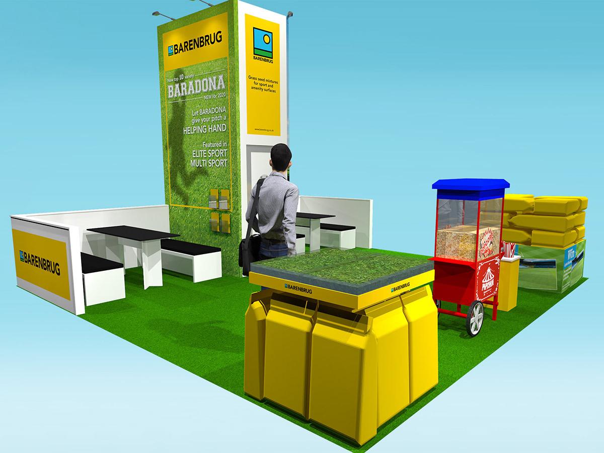 Exhibition Stand Design Barenbrug at Saltex