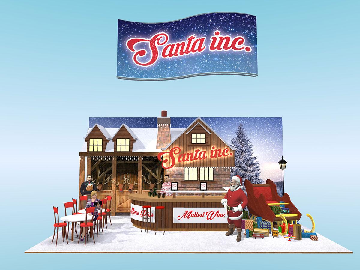 Santa Inc Exhibition Stand Design Concept
