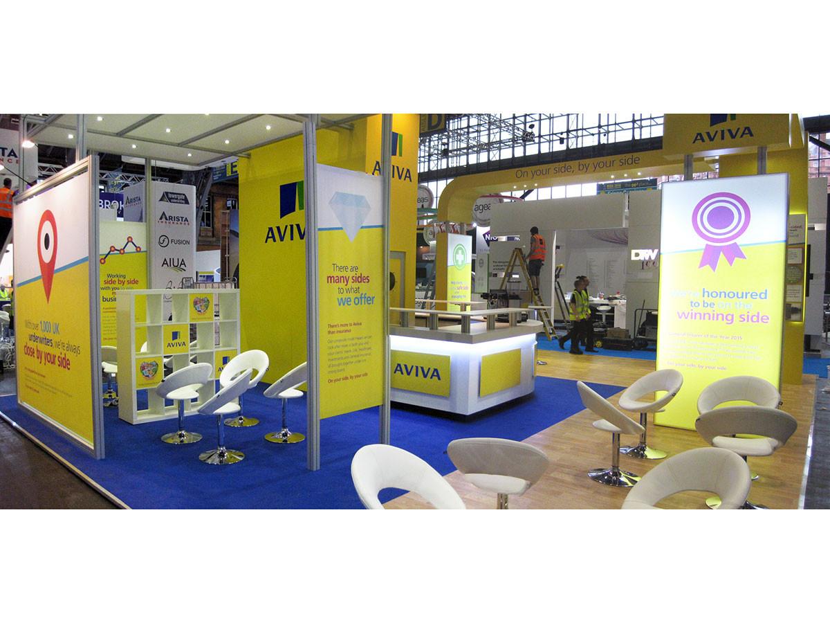 Custom Modular Exhibition Stand Aviva BIBA 2016