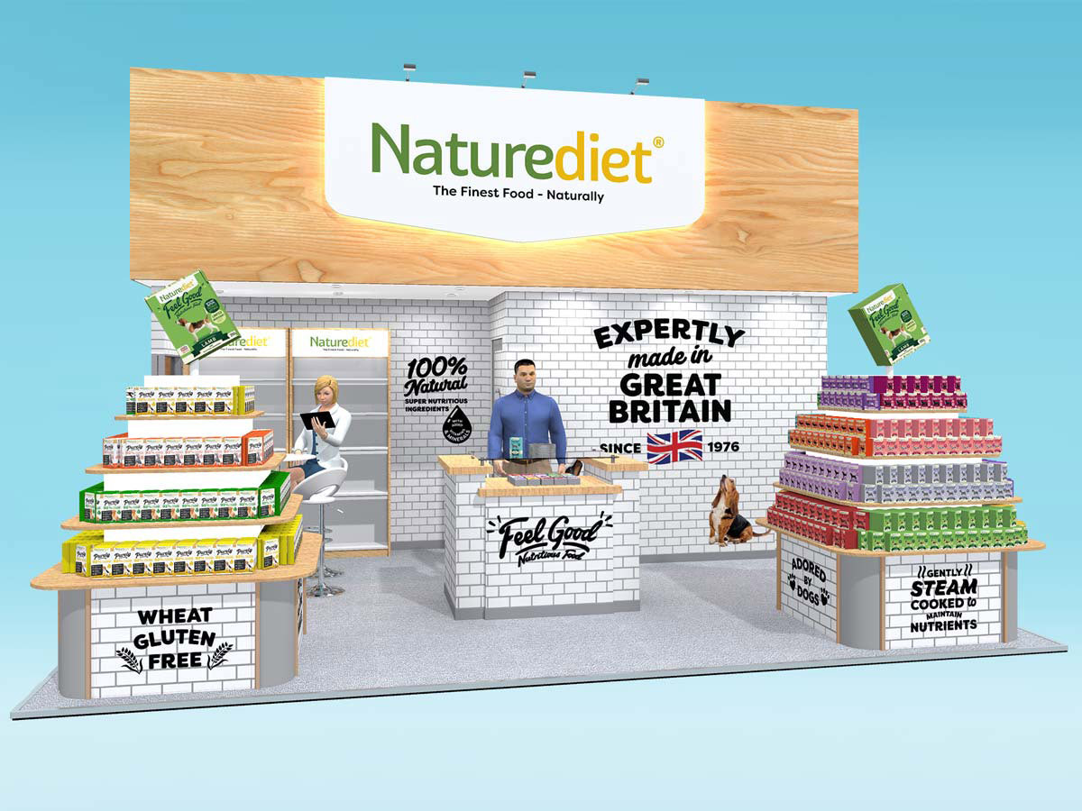Exhibition stand design concept Naturediet PATS 2018