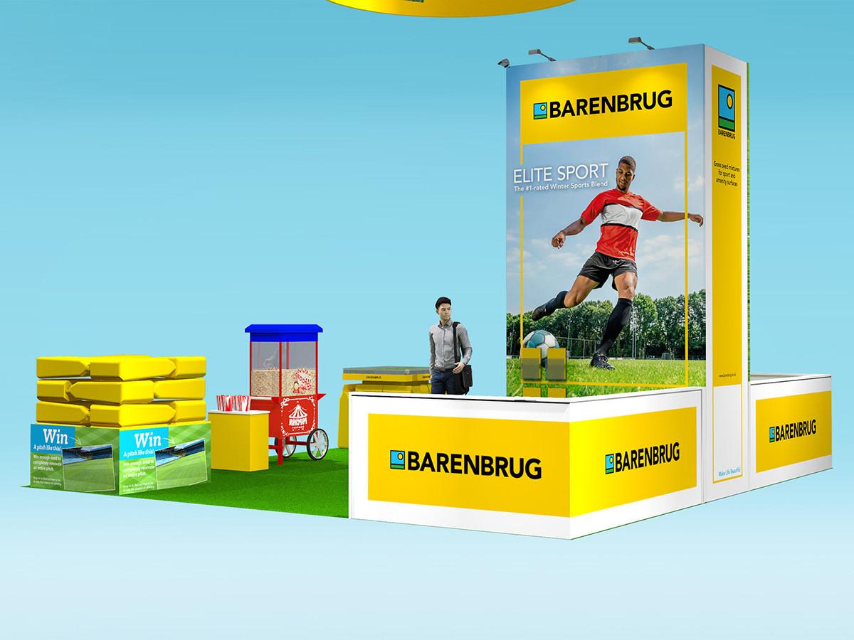 Exhibition Stand Graphic Design Barenbrug at Saltex