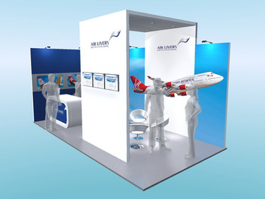 Air Livery Exhibition Stand Design Concept