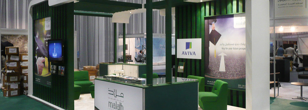 Custom Exhibition Stand Design and Build Malath Insurance