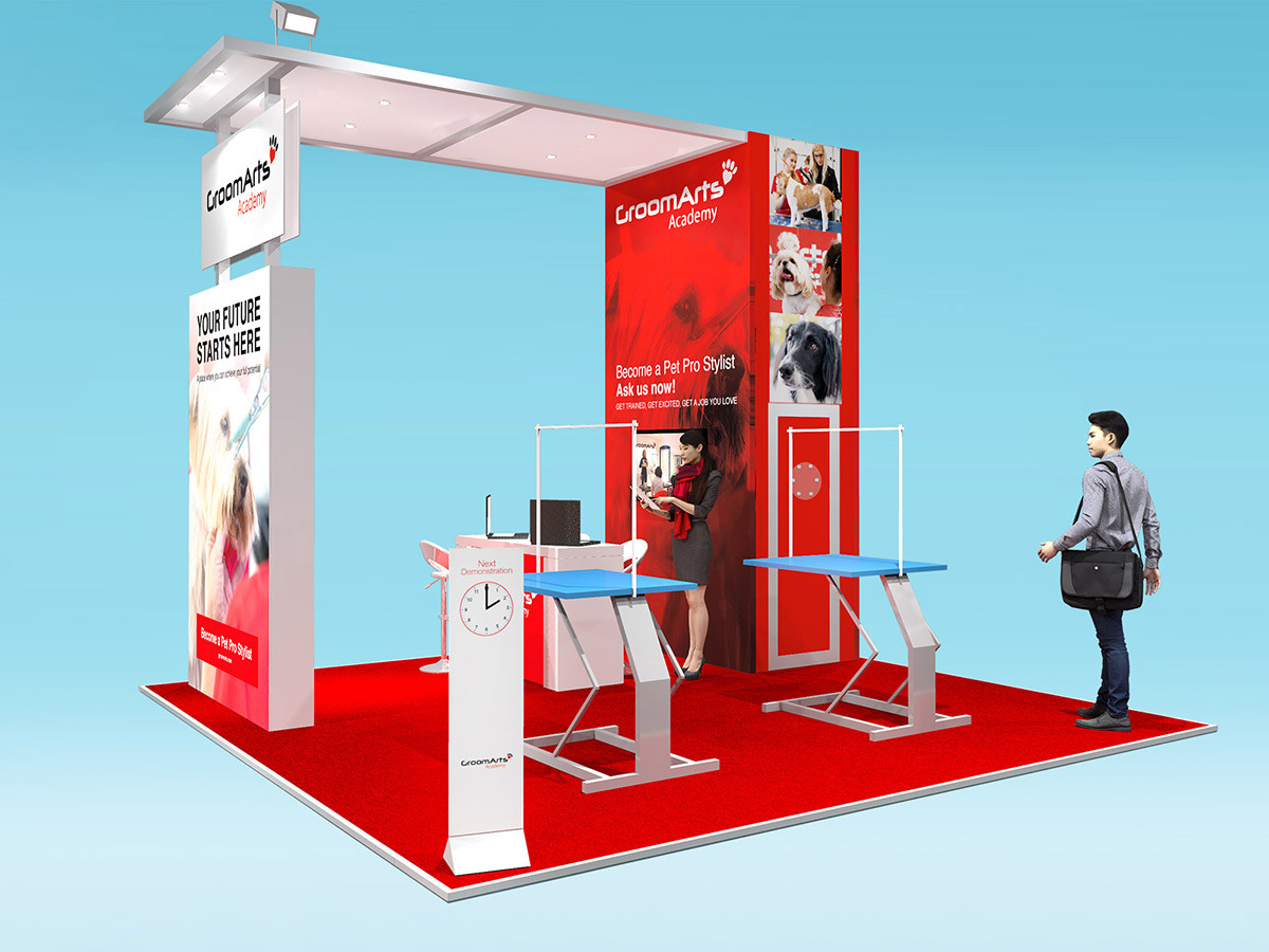 Custom Modular Exhibition Stand Design GroomArts at Crufts
