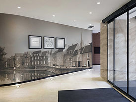 Norwich Hotel Foyer Wall Graphics by Image Display & Graphics