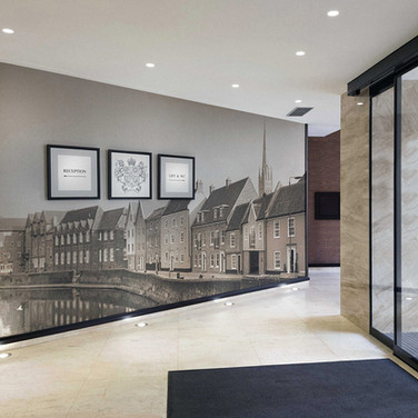 Hotel Foyer Wall Graphics Norwich