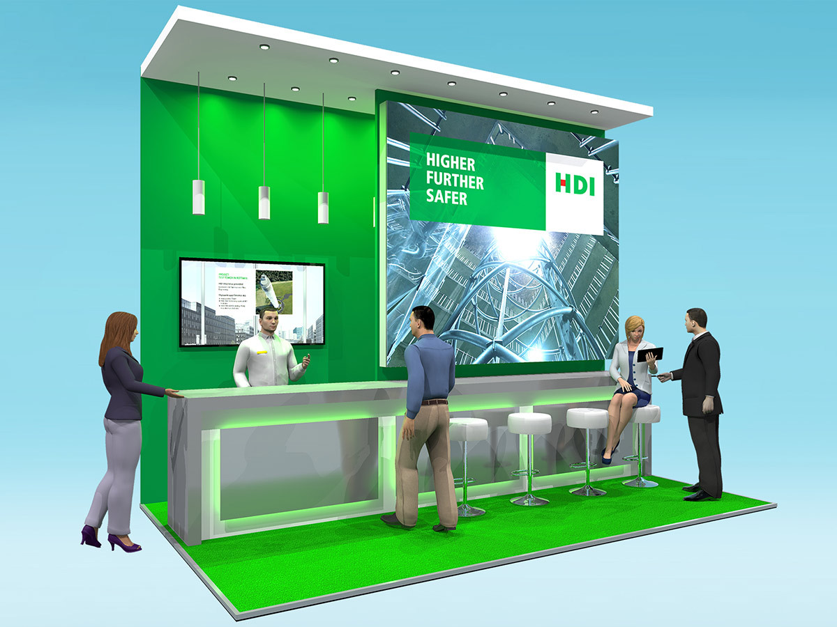 Exhibition Stand Design Concept HDI at Airmic 2018