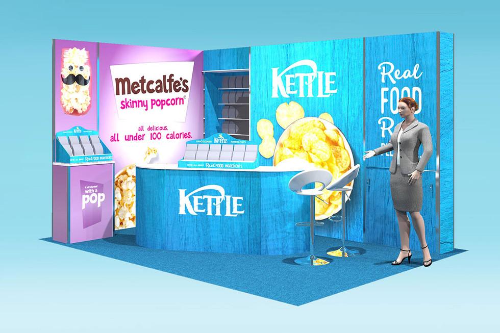 split brand kettle foods exhibition stand design concept