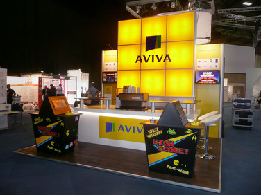 Custom 'Space Invader' Exhibition Stand - Aviva