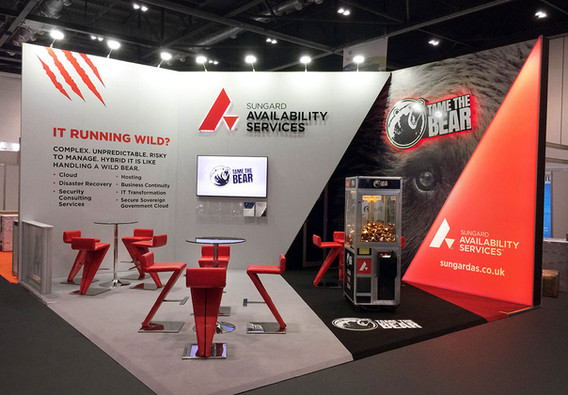 Custom Exhibition Stand with Tame the Bear Theme Sungard