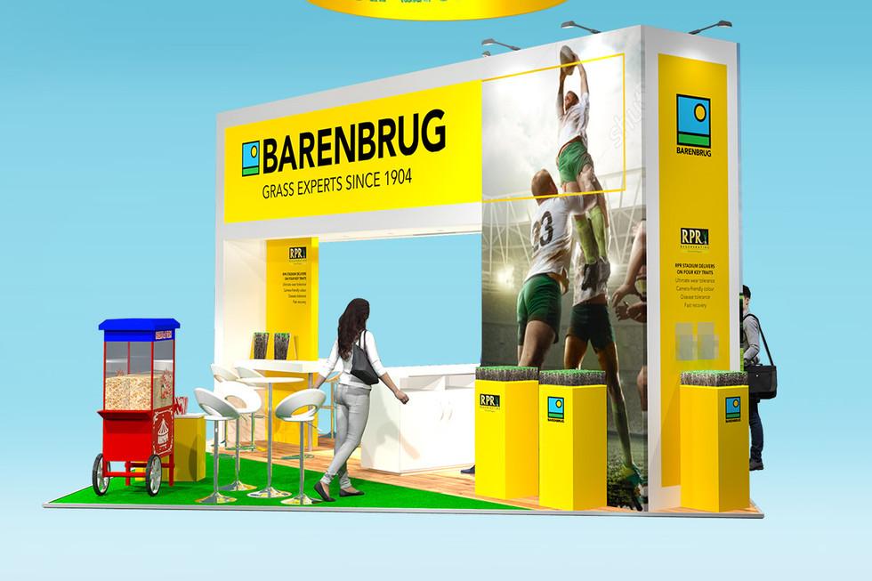 modern exhibition stand design concept barenbrug saltex 2019
