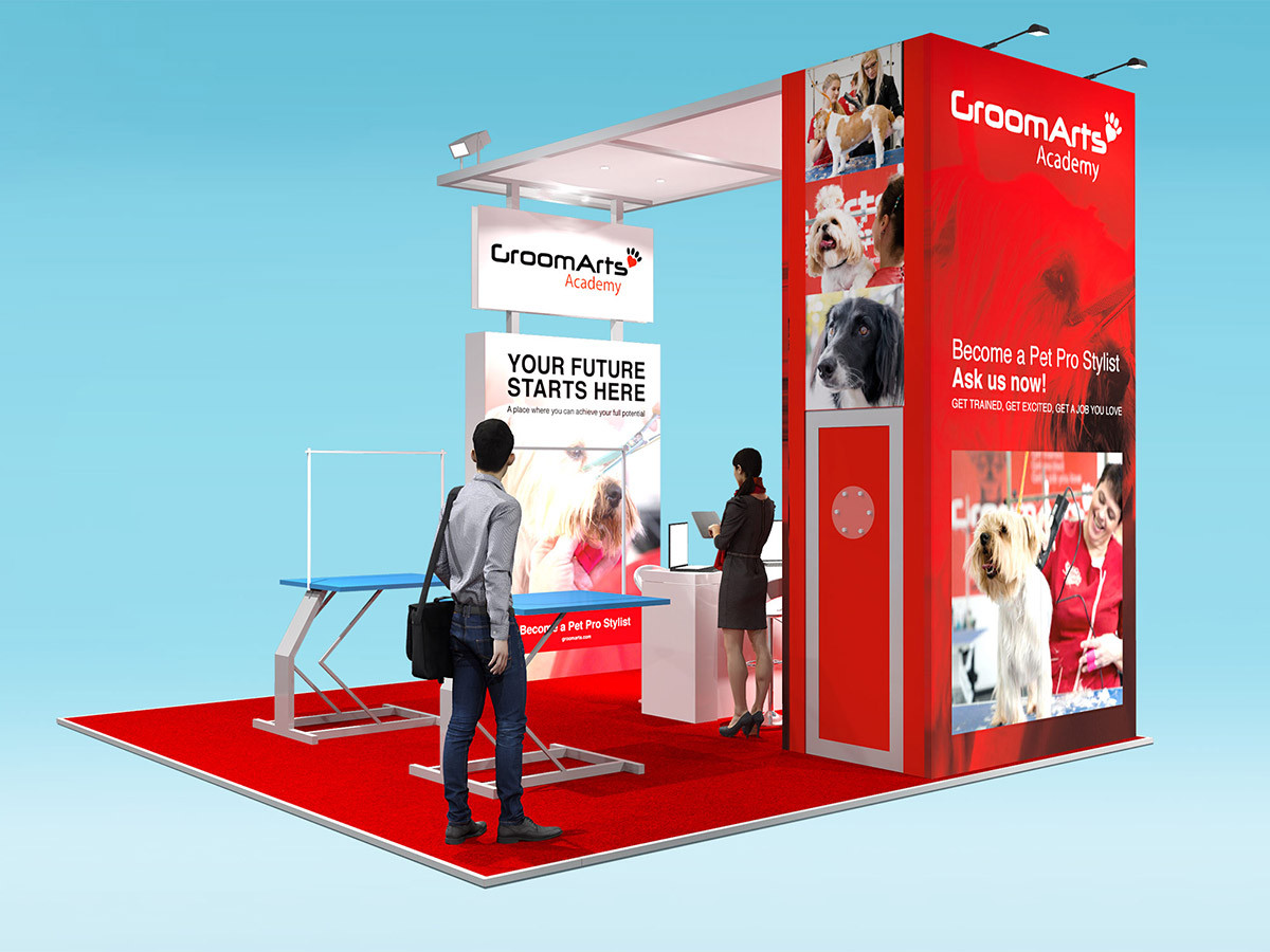 Custom Modular Trade Stand Design Groomarts