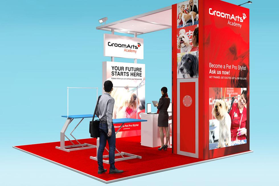 Custom Modular Trade Stand Design Groomarts