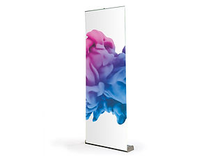 Double Sided Banner Stand with Graphics from Image Display Norwich