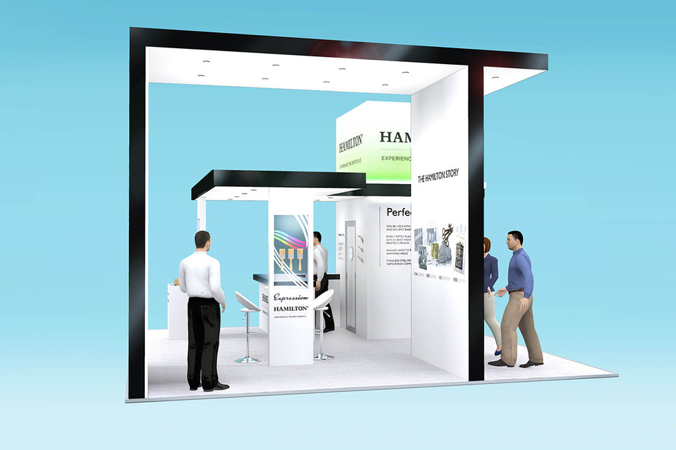 Exhibition Stand Design with Product Displays Hamilton