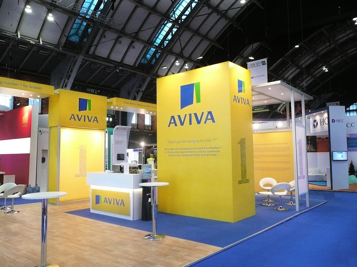 Custom Modular Exhibition Stand Build Aviva BIBA