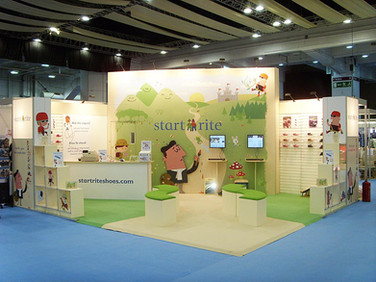 Custom Modular Exhibition Stand - Startrite Shoes at The Baby Show