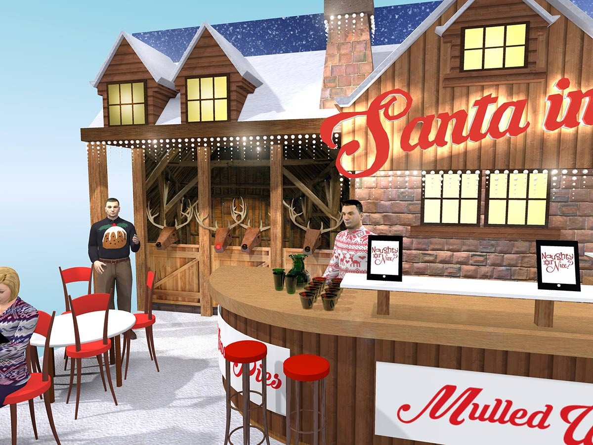 Christmas Chalet Style Exhibition Stand