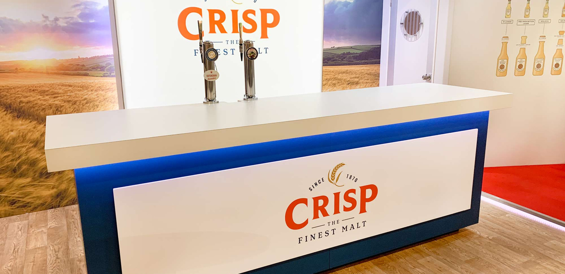 Custom Exhibition Stand Beer Tap Counter Crisp Brau Beviale 2019