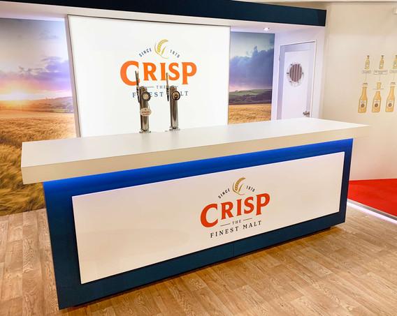 Custom Exhibition Stand Beer Tap Counter Crisp Brau Beviale 2019