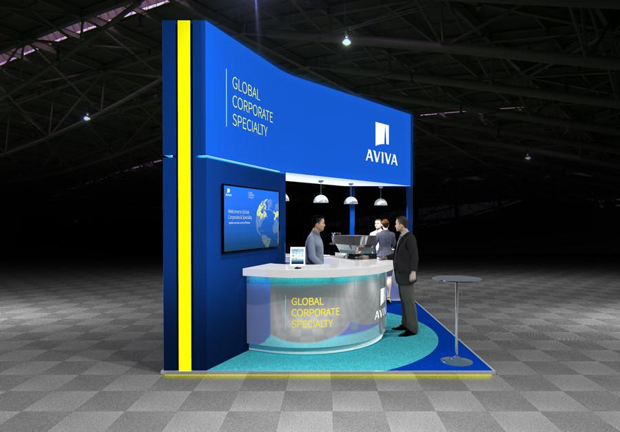 Aviva Airmic 2019 Exhibition Stand Design Concept