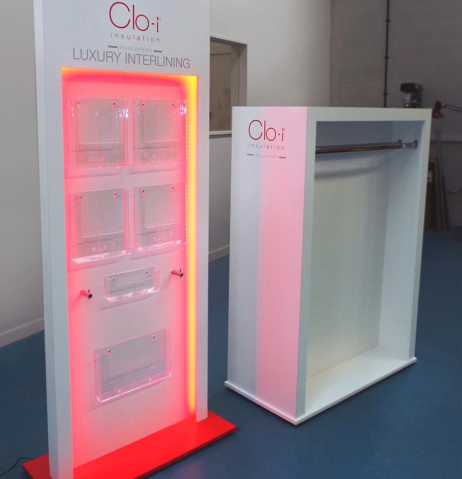 Custom LED edged displays for Clo-i