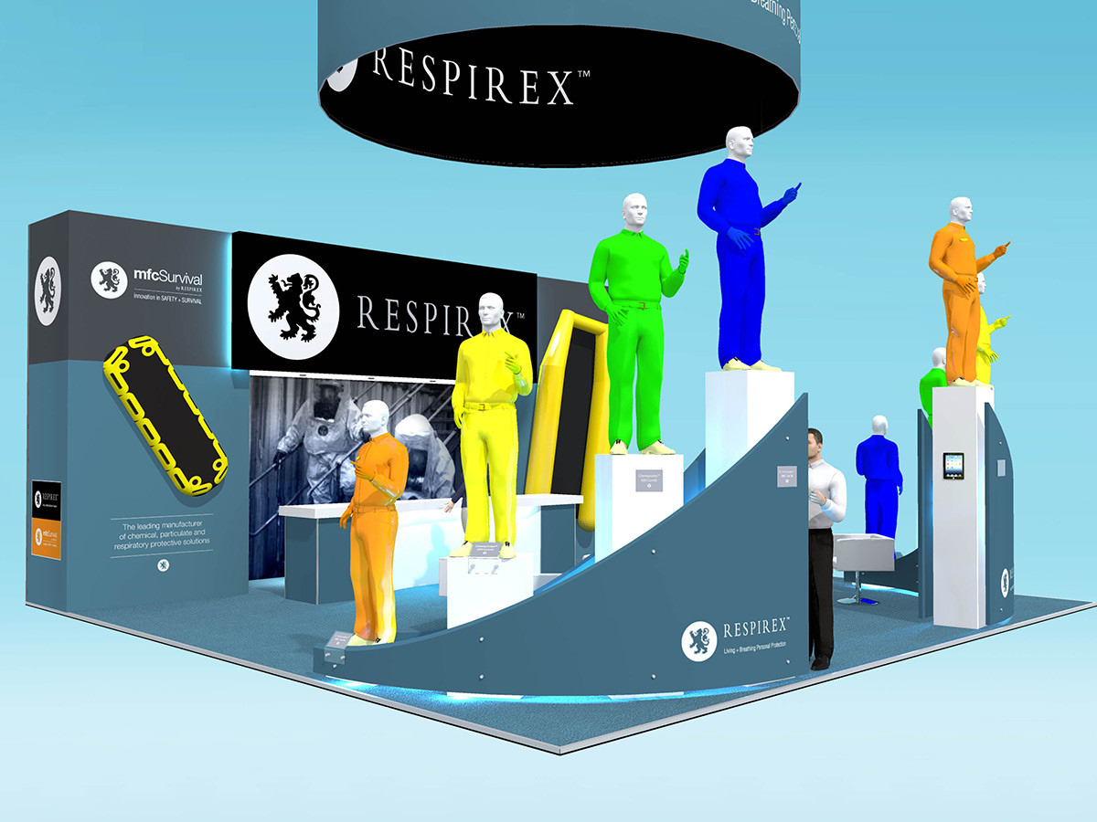 Product Display and Exhibition Stand Design Respirex