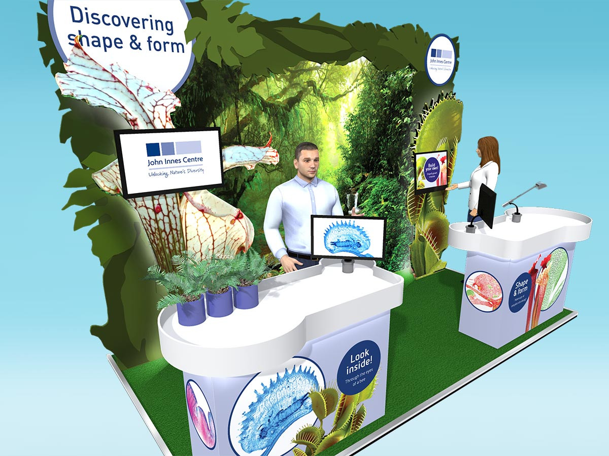Plant Themed Exhibition Stand Design John Innes Centre
