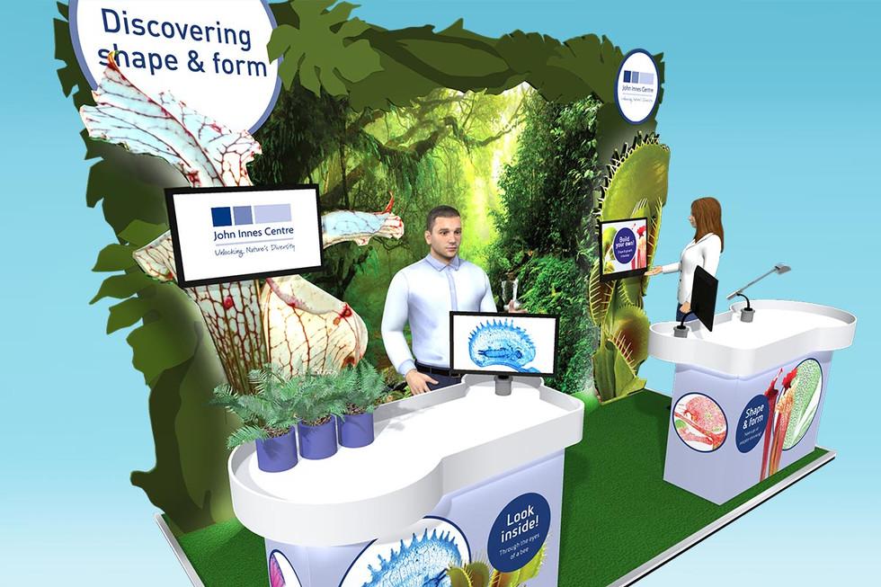 Plant Themed Exhibition Stand Design John Innes Centre