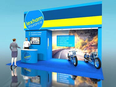 Lexham Insurance Exhibition Stand Design Concept