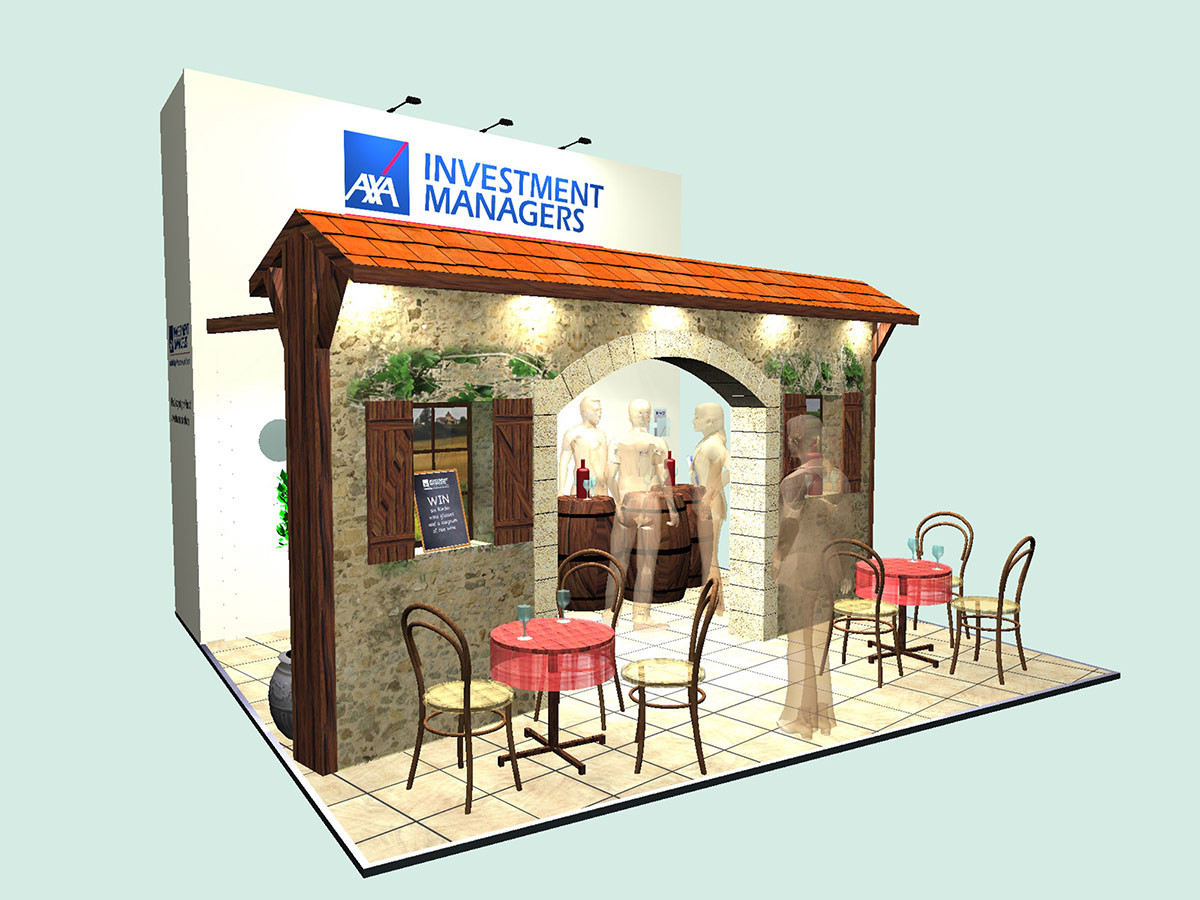 Taverna Style Exhibition Stand Design Axa