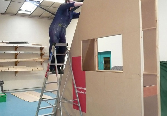 Angled Exhibition Stand Component Construction