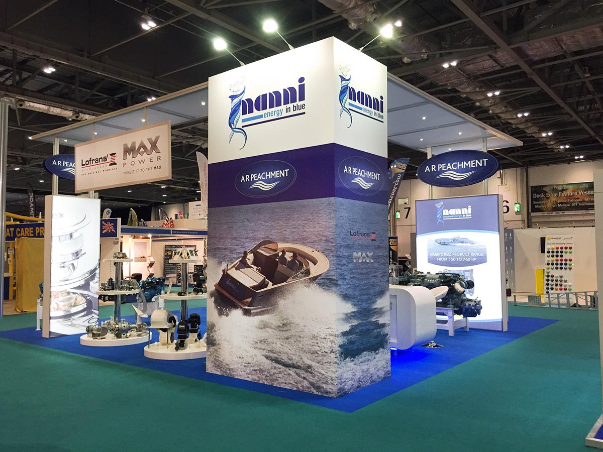 Exhibition stand design and build for A R Peachment