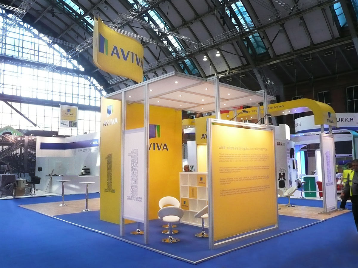 Modular Exhibition Stand Meeting Area Aviva BIBA