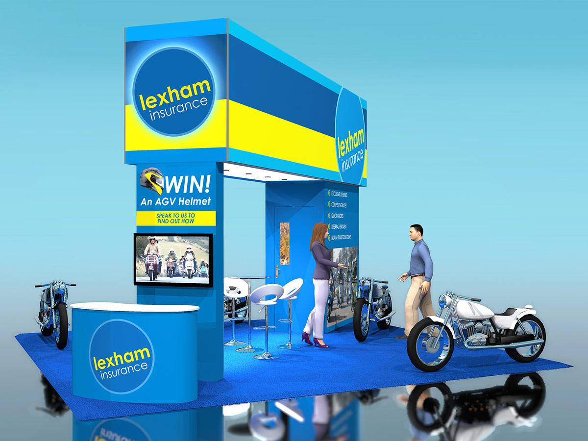 Exhibition Stand Design with Motorcyle Displays Lexham