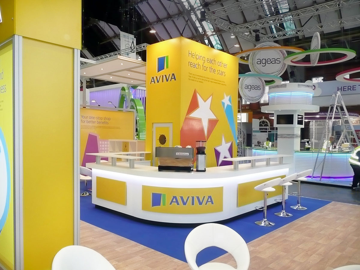 Curved Coffee Bar Unit Aviva BIBA Exhibition Stand