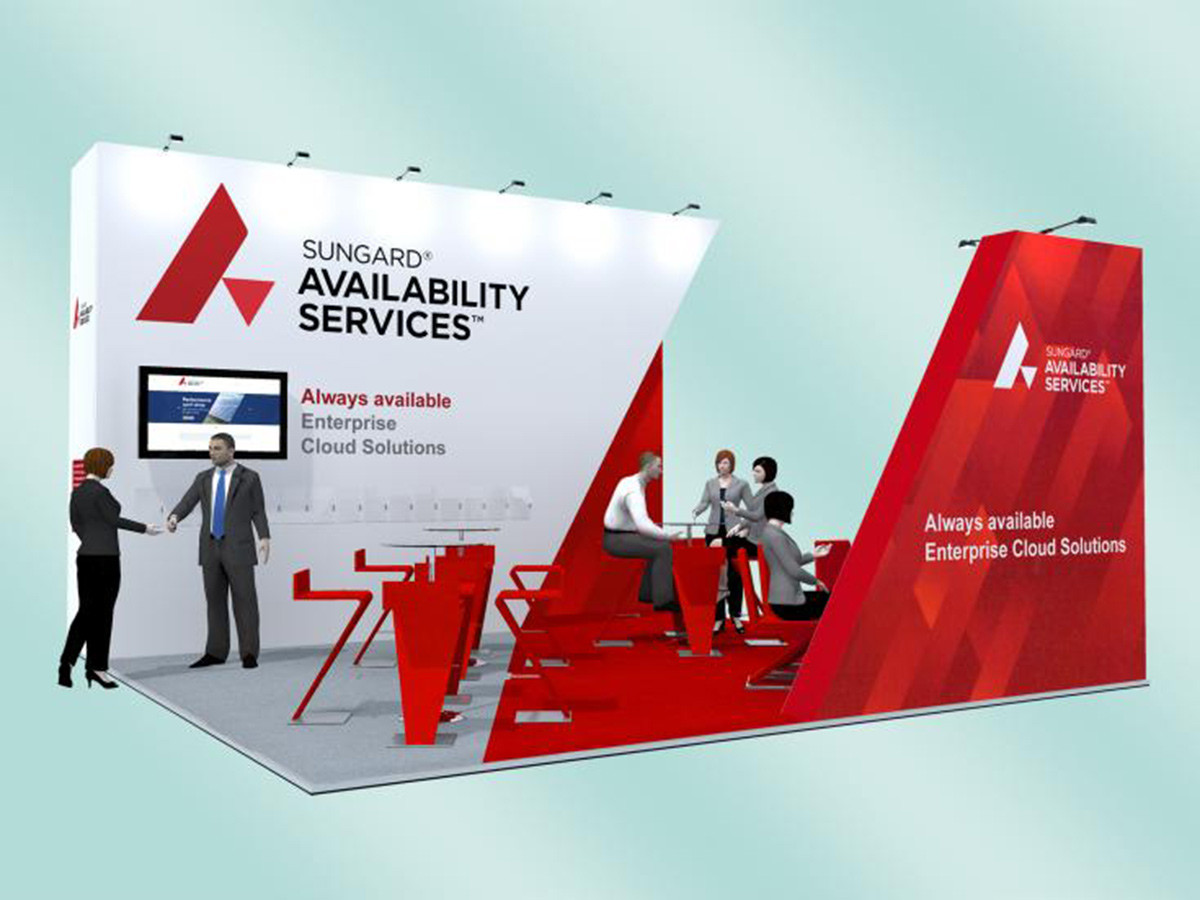 Angular Exhibition Stand Design Concept Sungard