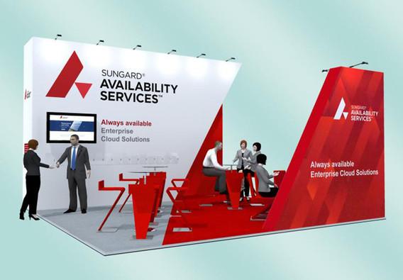 Angular Exhibition Stand Design Concept Sungard