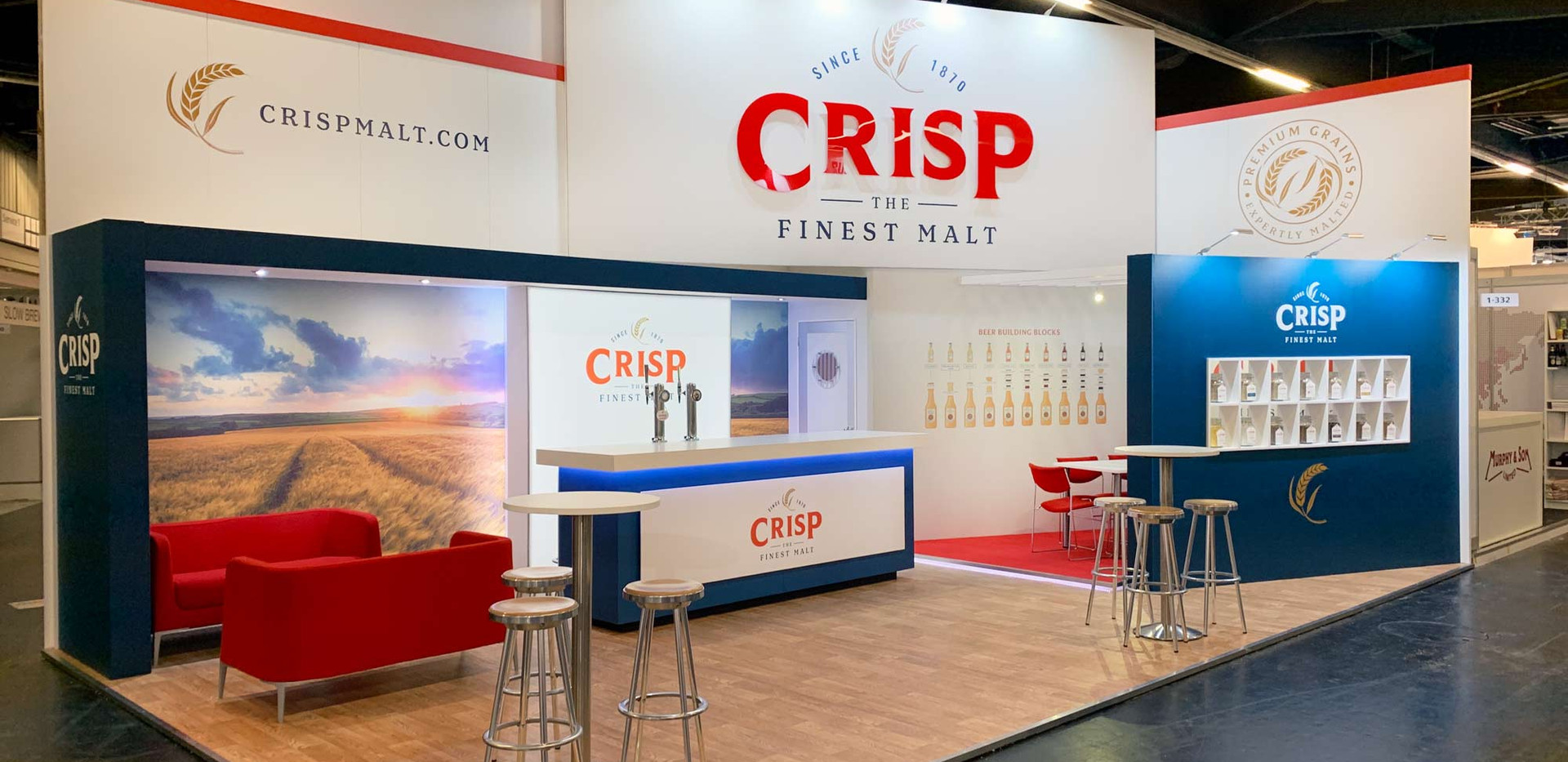 Large Custom Exhibition Stand Crsip at Brau Beviale 2019