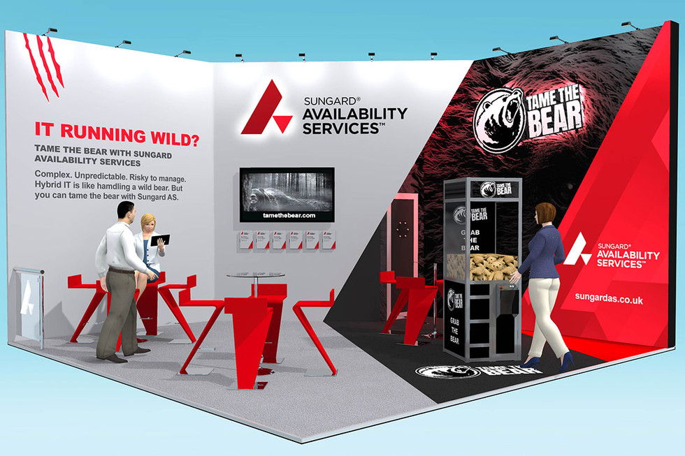 Exhibition Stand Design Concept - Sungard Tame the Bear