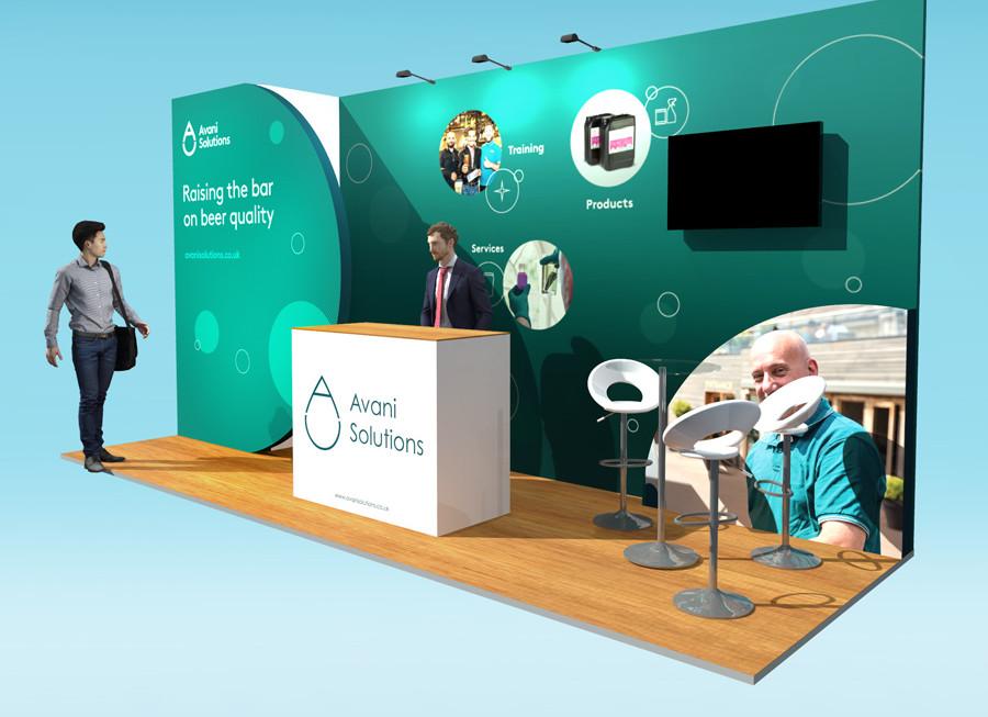 Custom Exhibition Stand Design Avani Solutions