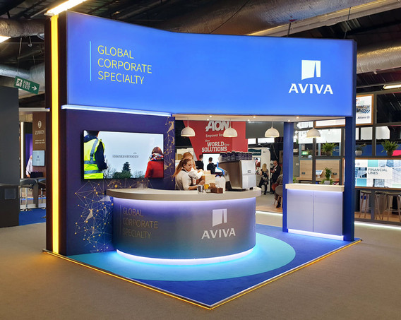 Custom Exhibition Stand Design and Build Aviva Airmic 2019